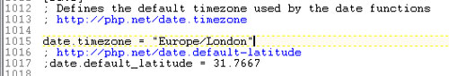 php ini screen timezone